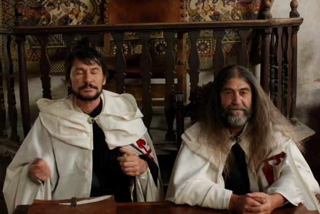 Actores durante el rodaje